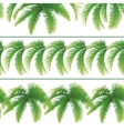 Seamless patterns palm leaves vector image