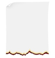 searing paper vector image vector image
