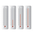 set thermometers vector image vector image