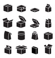 silhouette box packaging icon vector image vector image
