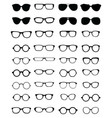 silhouettes of eyeglasses vector image vector image
