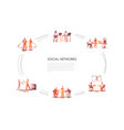 social networks - business people in office vector image vector image