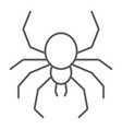 spider thin line icon spooky and animal arachnid vector image vector image