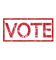 stamp text vote vector image vector image