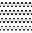 star monochrome seamless texture vector image vector image