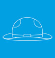 summer hat icon outline style vector image vector image