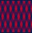 tartan seamless contrast rhombus texture vector image vector image