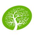 tree circle icon green ellipse logo vector image