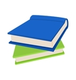 Two books icon in cartoon style vector image