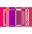 Retro tv icon on striped backdrop vector image