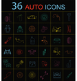 Set of car service icons vector image