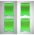 Green ribbon bookmark for books vector image