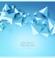 3d triangles abstract blue background vector image vector image