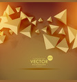 abstract 3d polygon background design vector image vector image