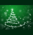 abstract light green christmas tree on dark vector image