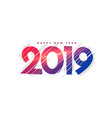 abstract new year 2019 creative lettering vector image