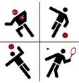 ball sport symbols vector image vector image