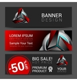 Banner design red robot technology turquoise black vector image