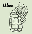 best wine barrel icon vector image