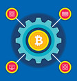 bitcoin blockchain modern technology vector image