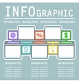 blue infographic background vector image vector image