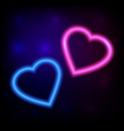 bright heart neon sign retro neon heart ready vector image vector image