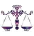 Bright scales zodiac Libra sign vector image