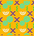 broken link structure seamless pattern vector image vector image