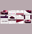 business backgrounds digital technology purple vector image vector image