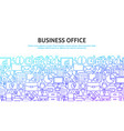 business office concept vector image vector image