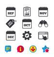 Calendar september november october december