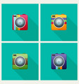 camera flat icon set for web vector image