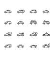 car black icon set on white background vector image vector image