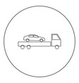 car service icon black color in circle or round vector image