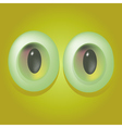Cartoon monster eyes vector image vector image