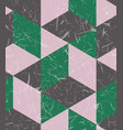 color block geometry seamless pattern with texture vector image