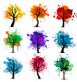 Colorful tree background vector image vector image