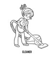 coloring book cleaner vector image vector image