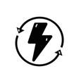 Contour energy hazard symbol with arrows around