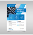 corporate business flyer template with blue vector image vector image