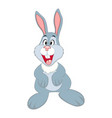 cute cartoon bunny easter vector image