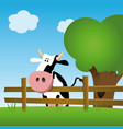 dairy cow in a field vector image