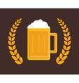 delicious cold beer vector image vector image