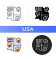 electoral college icon vector image