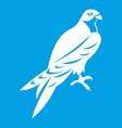 falcon icon white vector image