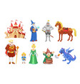 fantasy fairy tale clipart cartoon characters vector image vector image