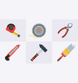 flat tools for building construction home repair vector image vector image