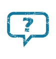 Grunge question message icon vector image vector image