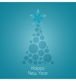 Happy New Year celebration background vector image vector image