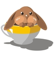 Hare in cup color 08 vector image